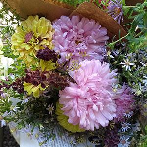Fleurs au kiosque Écru Fleurs